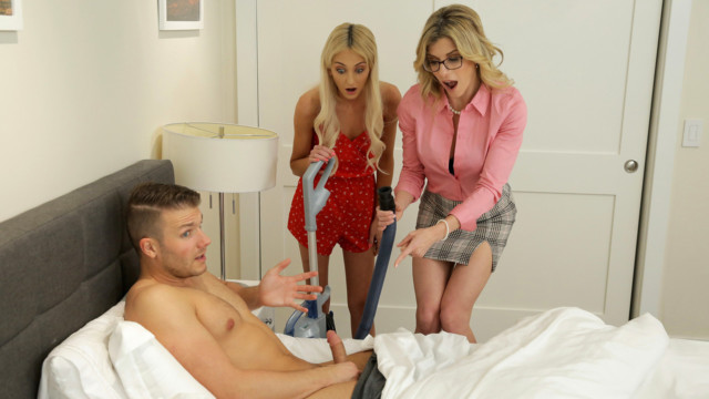 Cory Chase, Tallie Lorain - Mom His Dick Is Stuck In A Vacuum Cleaner