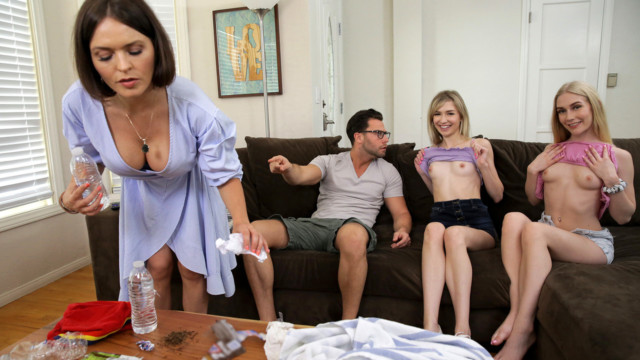 Emma Starletto, Mackenzie Moss - My Friends And I Flash Our Tits To My Brother