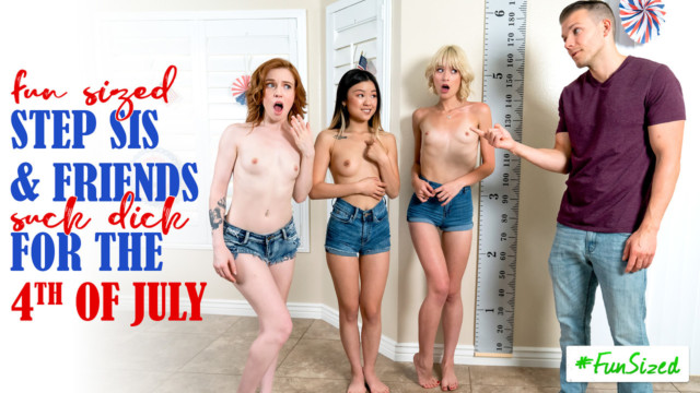 Jessie Saint, Lulu Chu - Take Your Fun Sized Sister And Her Friends To The Amusement Park For Fourth Of July